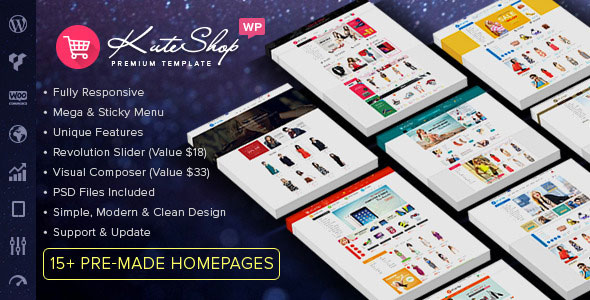 KuteShop v3.3.0 — Multipurpose WooCommerce Wordpres Theme