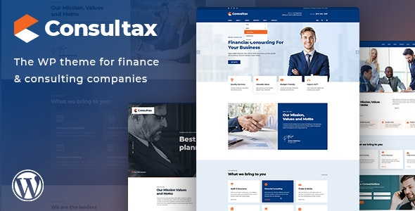 Consultax v1.0.2 — Financial & Consulting WordPress Theme