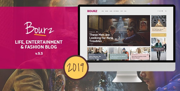 Bourz v5.3 — Life, Entertainment & Fashion Blog Theme