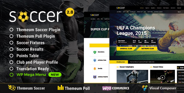 Soccer v2.8 — Sport WordPress Theme for Football, Sport Club, Sport Team