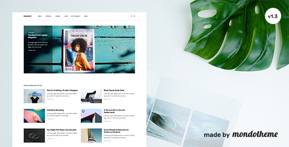 Magsy v1.3 — Modular Magazine & Blog Theme