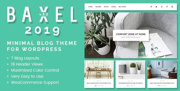 Baxel v3.2.2 — Minimal Blog Theme for WordPress