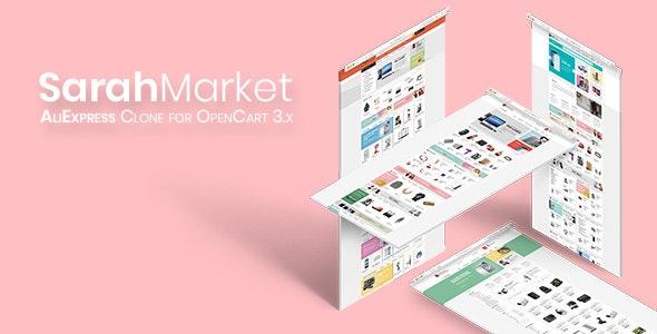 SarahMarket — Large Store OpenCart Theme