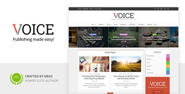Voice v2.9.1 — Clean News/Magazine WordPress Theme