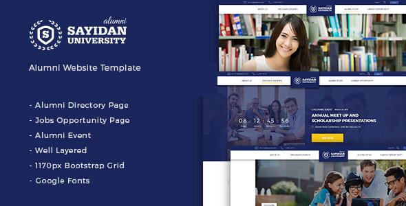 Sayidan v1.6.5 — University Alumni WP theme