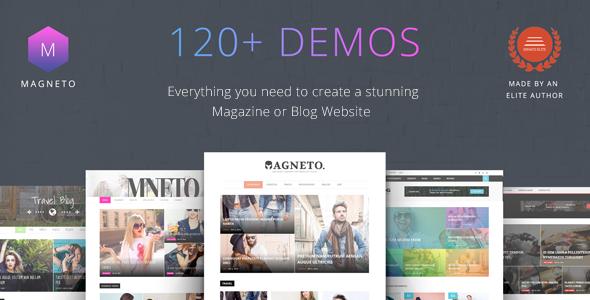Magneto v1.2 — ECommerce Multi Concept Newspaper / News / Magazine / Blog WordPress Theme