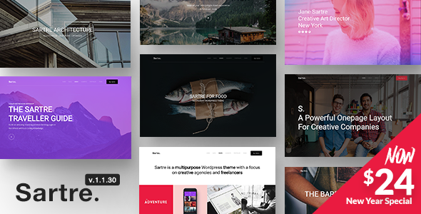 Sartre v1.1.30 — Responsive Multipurpose Theme for Creatives