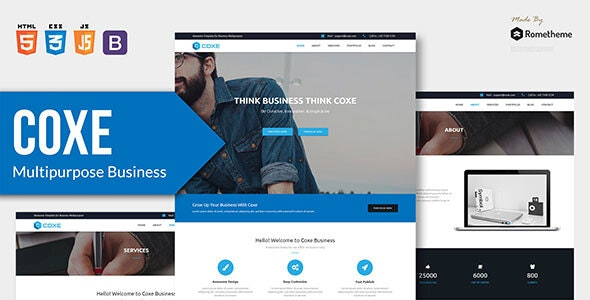 COXE v1.0 — Corporate Multipurpose HTML Template