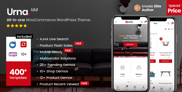 Urna v1.0 — All-in-one WooCommerce WordPress Theme