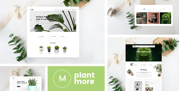 Plantmore v1.0 — OpenCart Theme (Included Color Swatches)