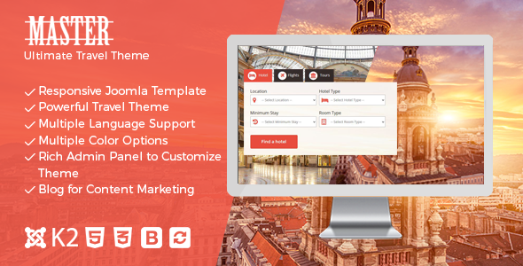 Master v17 — Ultimate Travel Theme for Joomla