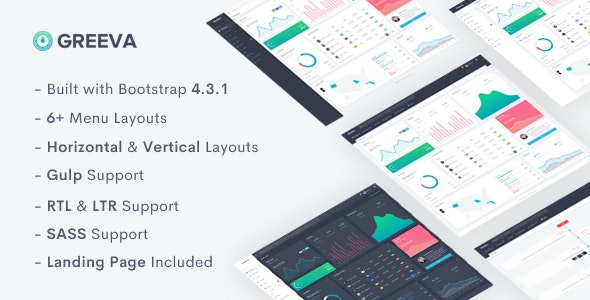 Greeva v1.0 — Admin & Dashboard Template