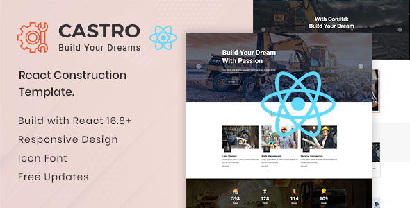 Castro v1.0 — React Construction Template