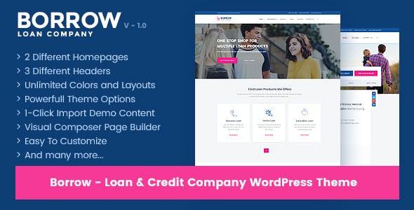 Borrow v1.4.5 — Loan Company Responsive WordPress Theme