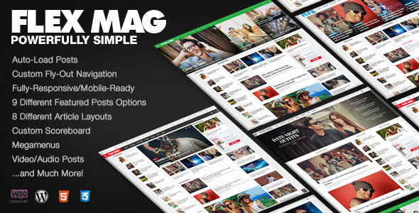 Flex Mag v3.0.1 — Responsive WordPress News Theme