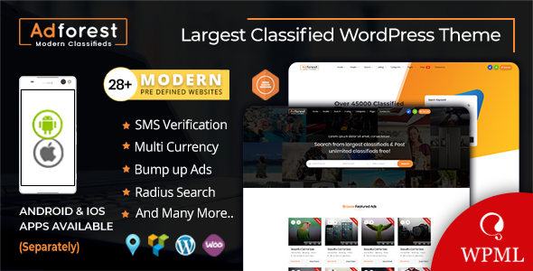 AdForest v4.1.1 — Classified Ads WordPress Theme