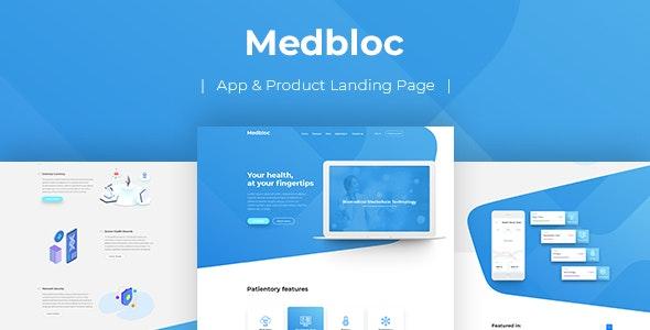 Medbloc — PSD Landing Page