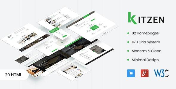 Kitzen v1.0 — Modern Kitchen HTML Template