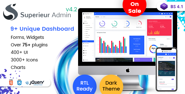 Superieur Admin v4.2 — Responsive Bootstrap 4 Admin Template Dashboard Web App