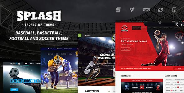 Splash v3.9 — Sport WordPress Theme