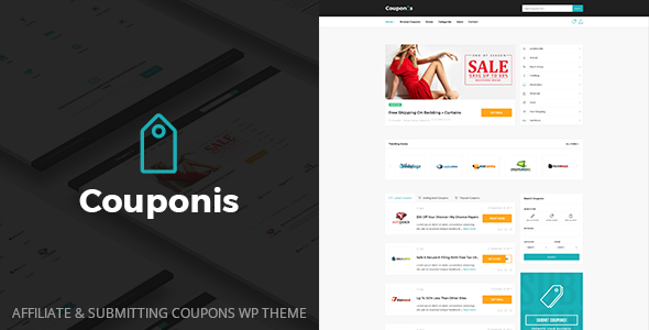 Couponis v2.0 — Affiliate & Submitting Coupons WordPress Theme