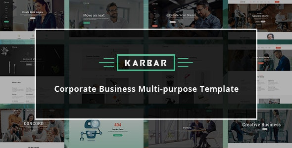 Karbar — Multipurpose Bootstrap 4 Template