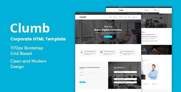 Clumb — Corporate HTML Template