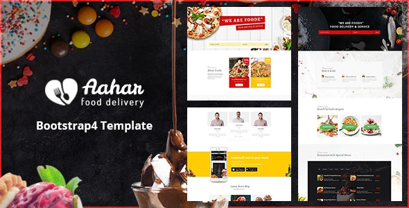 Aahar — Food Delivery Service Bootstrap4 Template