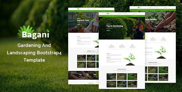 Bagani — Gardening and Landscaping Bootstrap4 Template