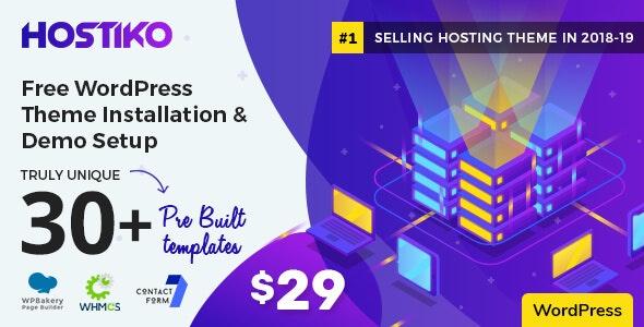 Hostiko v30.0.1 — WordPress WHMCS Hosting Theme