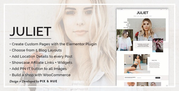 Juliet v2.6 — A Blog & Shop Theme for WordPress