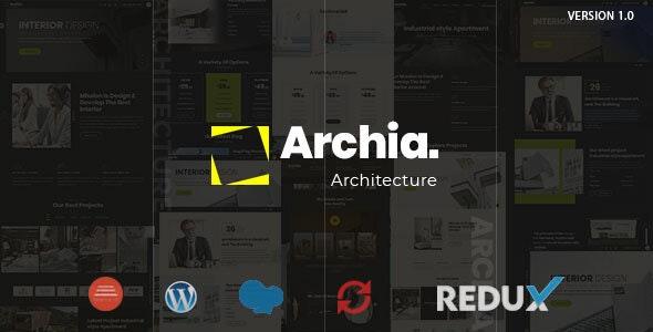 Archia v1.0.1 — Architecture & Interior WordPress Theme