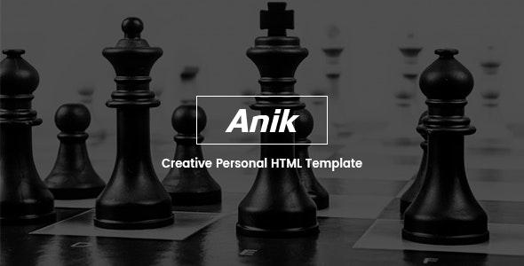 Anik — Personal Portfolio Template