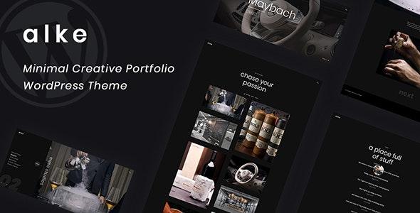 Alke v1.0.1 — Minimal Creative Portfolio WordPress Theme