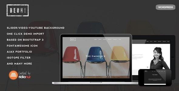 Beuh v1.2.1 — Responsive One Page Portfolio Theme