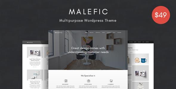 Malefic v1.0.2 — One Page Responsive WordPress Theme