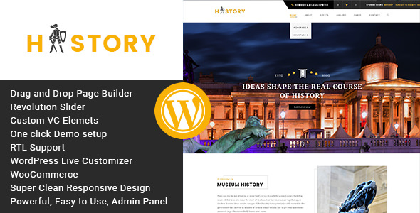 History v1.2.2 — Museum and Exhibition WordPress Theme (19 June 2019)