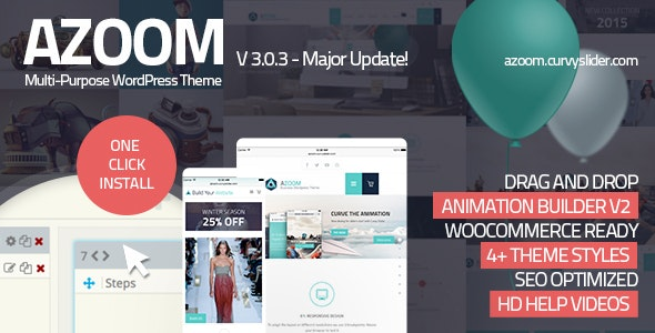 Azoom v3.0.3 — Multi-Purpose Theme with Animation Builder