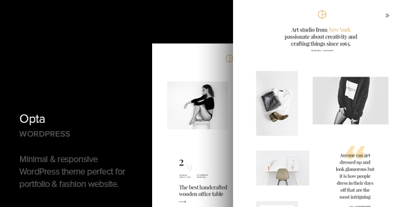 Opta v1.4 — Minimal Portfolio and Photography Theme