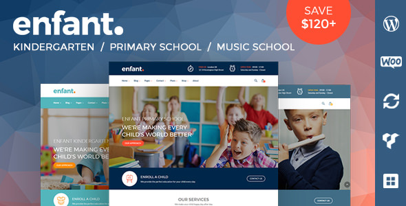 Enfant v3.1 — School and Kindergarten WordPress Theme