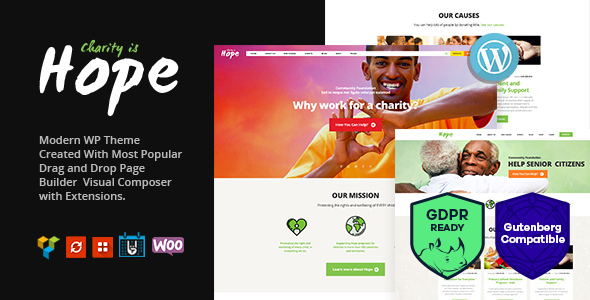Hope v2.2.0 — Non-Profit, Charity & Donations Theme + RTL