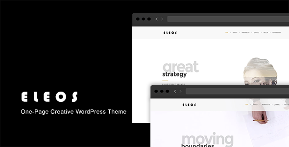 Eleos v1.3.3 — One-Page Creative WordPress Theme