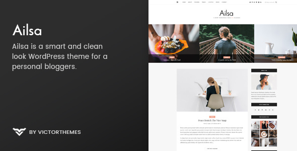 Ailsa v1.4 — Personal Blog WordPress Theme