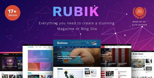 Rubik v1.4 — A Perfect Theme for Blog Magazine Website