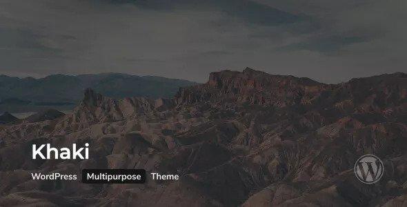Khaki v2.0.3 — Responsive Multi-Purpose WordPress Theme