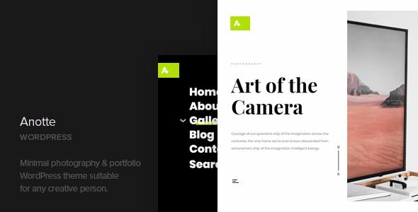 Anotte v1.5 — Horizontal Photography WordPress Theme