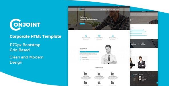 Conjoint — Corporate HTML Template
