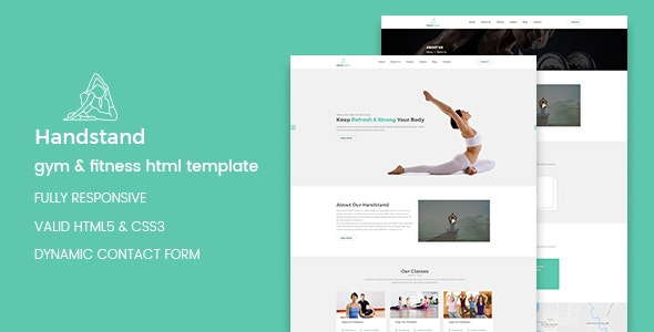 Handstand — Gym & Fitness HTML Template