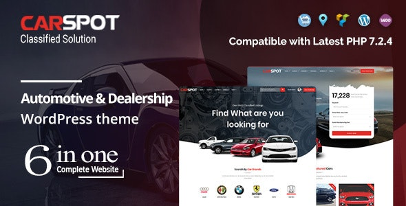 CarSpot v2.1.8 – Automotive Car Dealer WordPress Classified Theme
