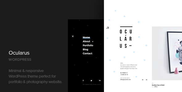 Ocularus v1.4 — Minimal Photography WordPress Theme